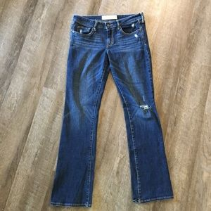 Abercrombie & Fitch Distressed Jeans. Dark Wash.